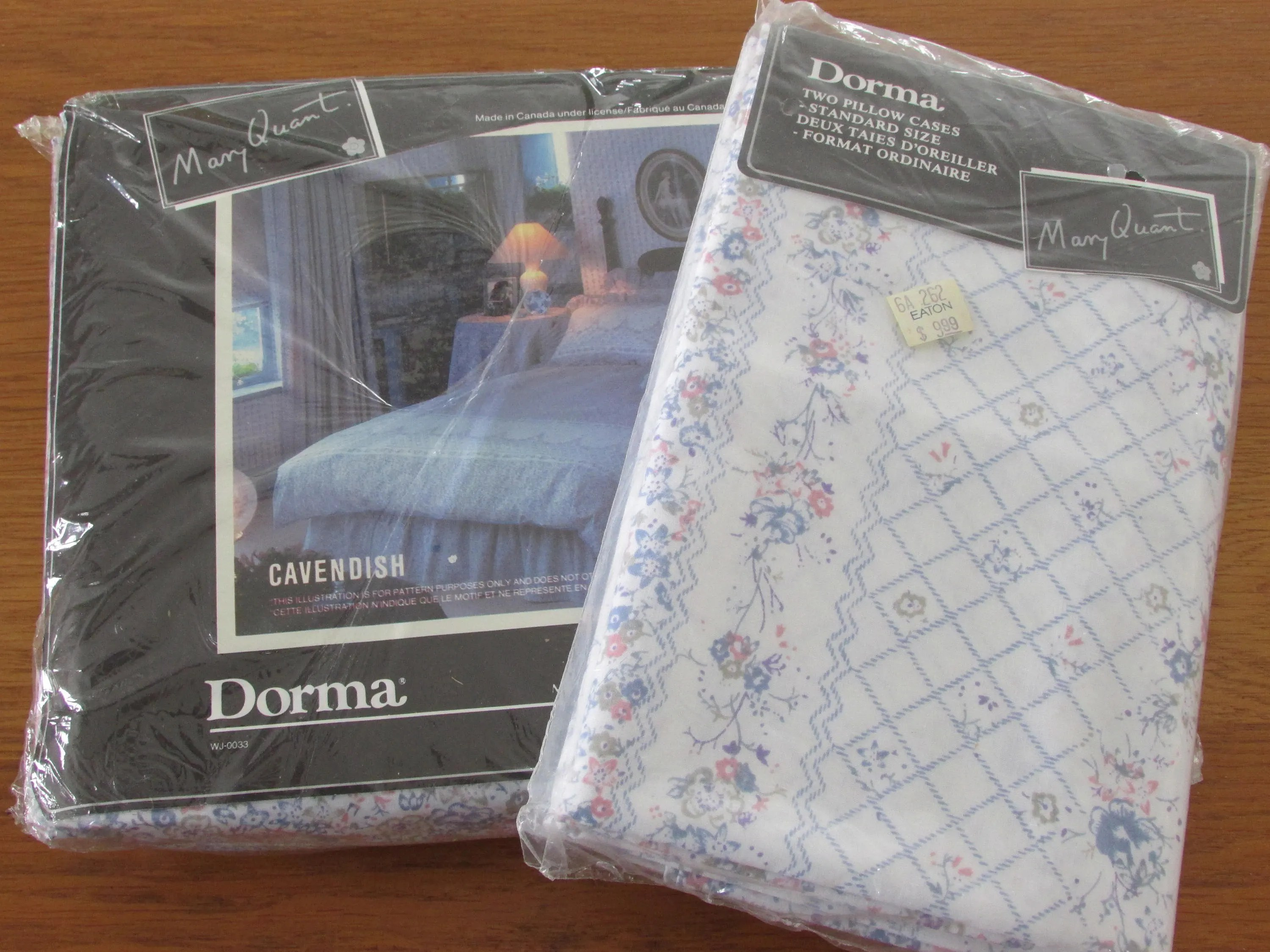 Fitted Sheet Canada New In Package Vintage Double Fitted Sheet And 2 Pillowcases Blue Floral Sheet Wabasso Sheet And Pillowcases 80s Bedding