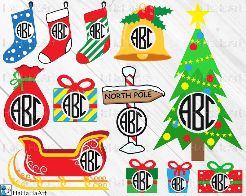 Circle Christmas Designs Clip art / Cutting Files svg eps Etsy