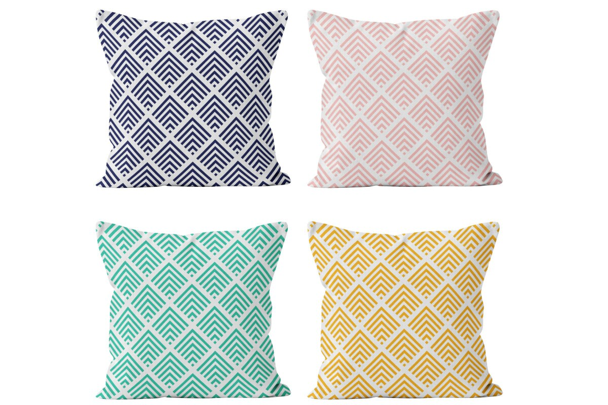 Mix And Match Deco 54 Colors Art Deco Pillow Cover Contemporary Decorative Throw Cushion Cover Mix And Match Decor Blush Pink Indigo Turquoise Blue Yellow