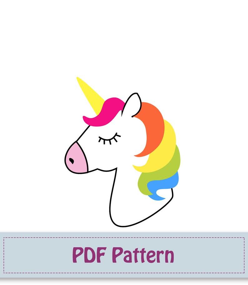 Unicorn Applique Pattern unicorn Applique Template Unicorn Etsy