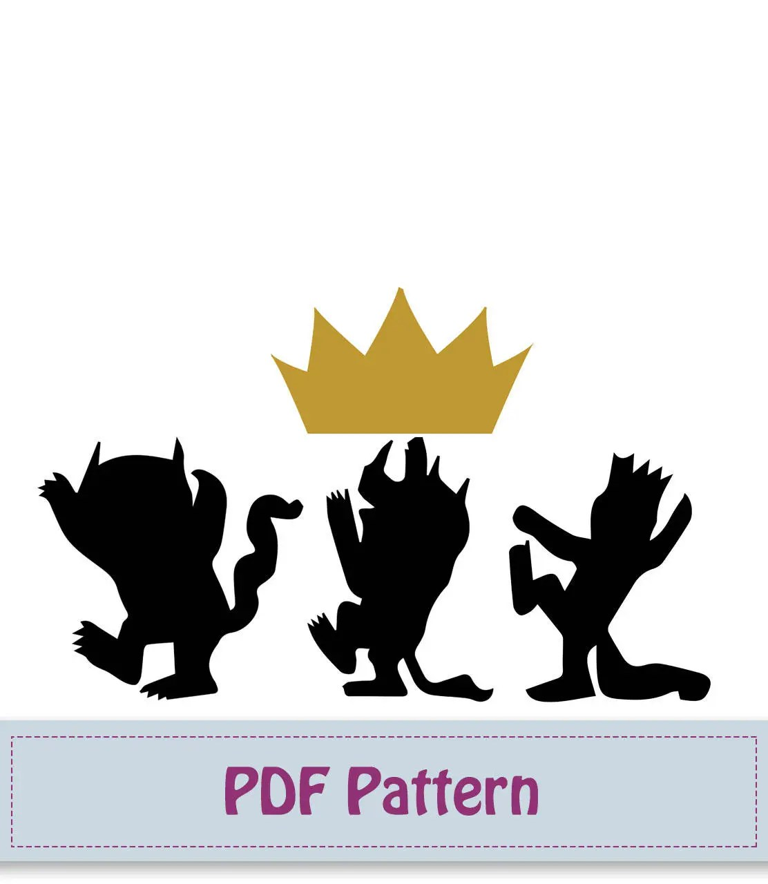 Where the wild things are Applique Pattern Applique Template Etsy