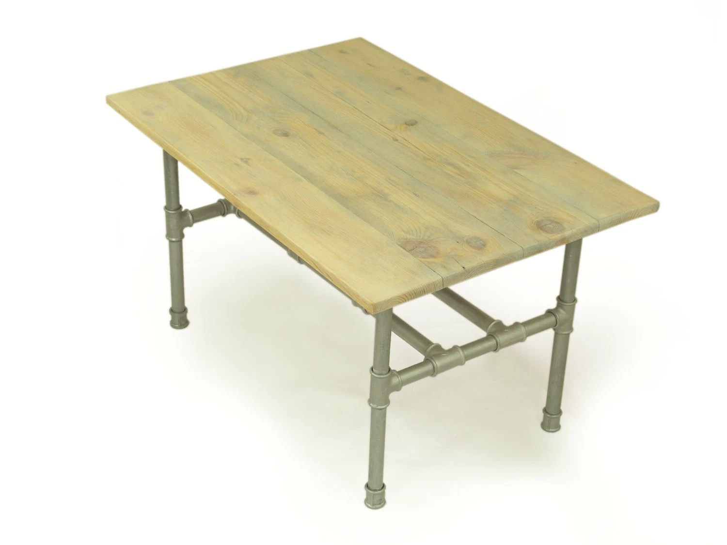 Best Loft Couchtisch Handmade Silver Coffee Table Industrial Table Of Reclaimed Planks Top On Recycled Gas Pipe Legs Table Tisch Couchtisch