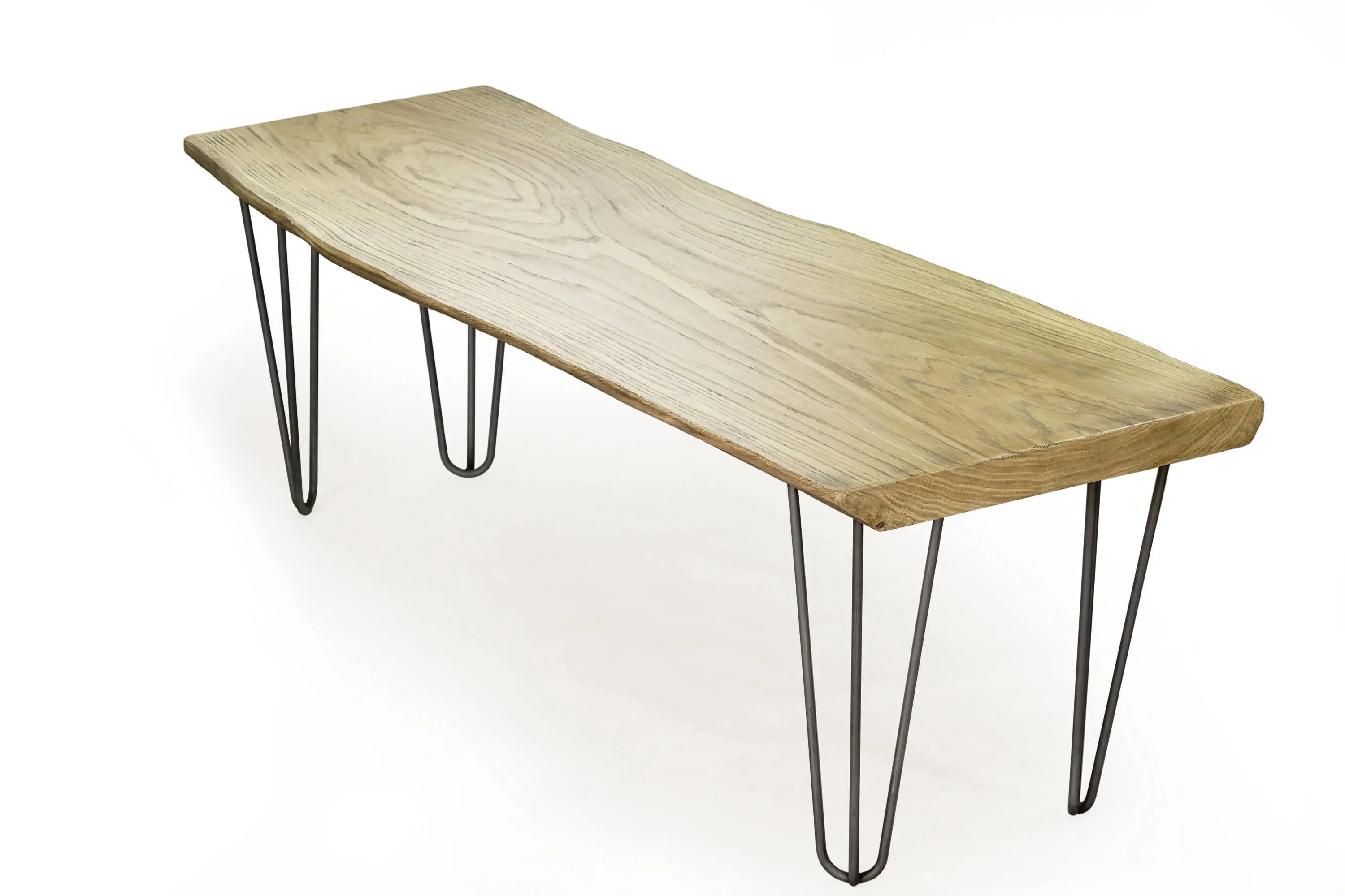 Scandi Couchtisch Weathered Oak Table Hairpin Coffee Table