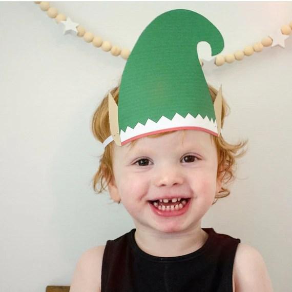 Paper Elf Hat Elf printable Instant Download Christmas Etsy
