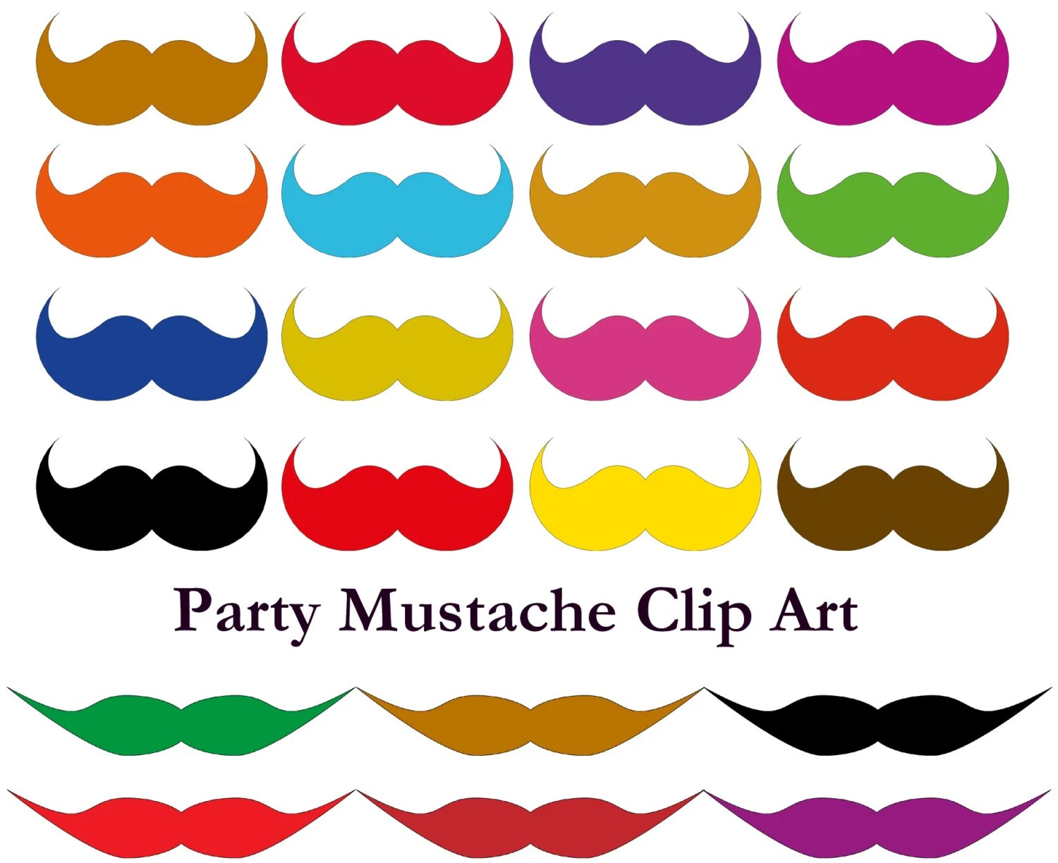 Mustache party printable paper Mustache birthday outfit party Etsy