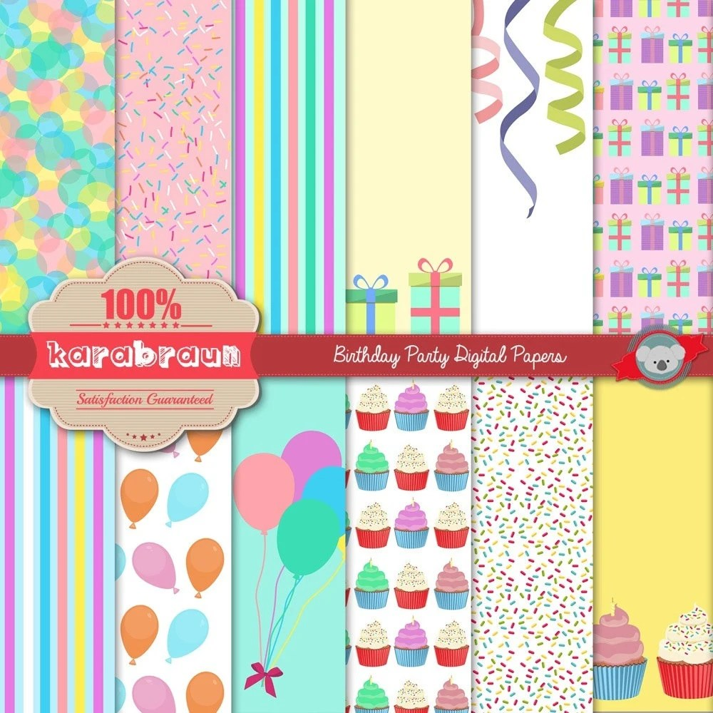 Birthday Party digital clipart digital images printables Etsy