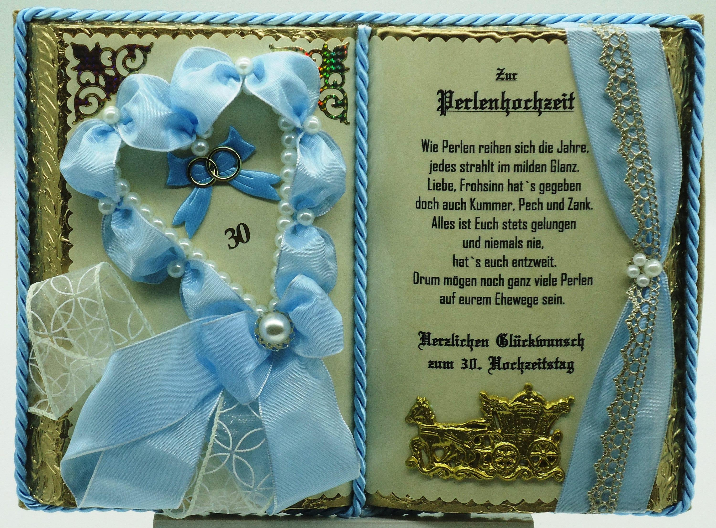 Geschenke Basteln Perlenhochzeit Danielas Kartenwerkstatt Geschenk