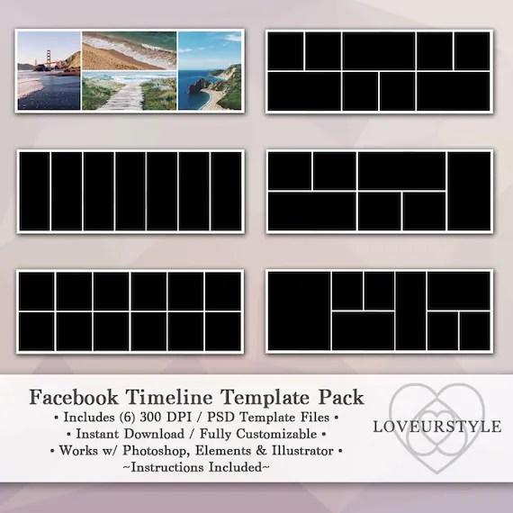 Facebook Timeline Template Pack, Timeline Cover, Facebook Banner - facebook collage template