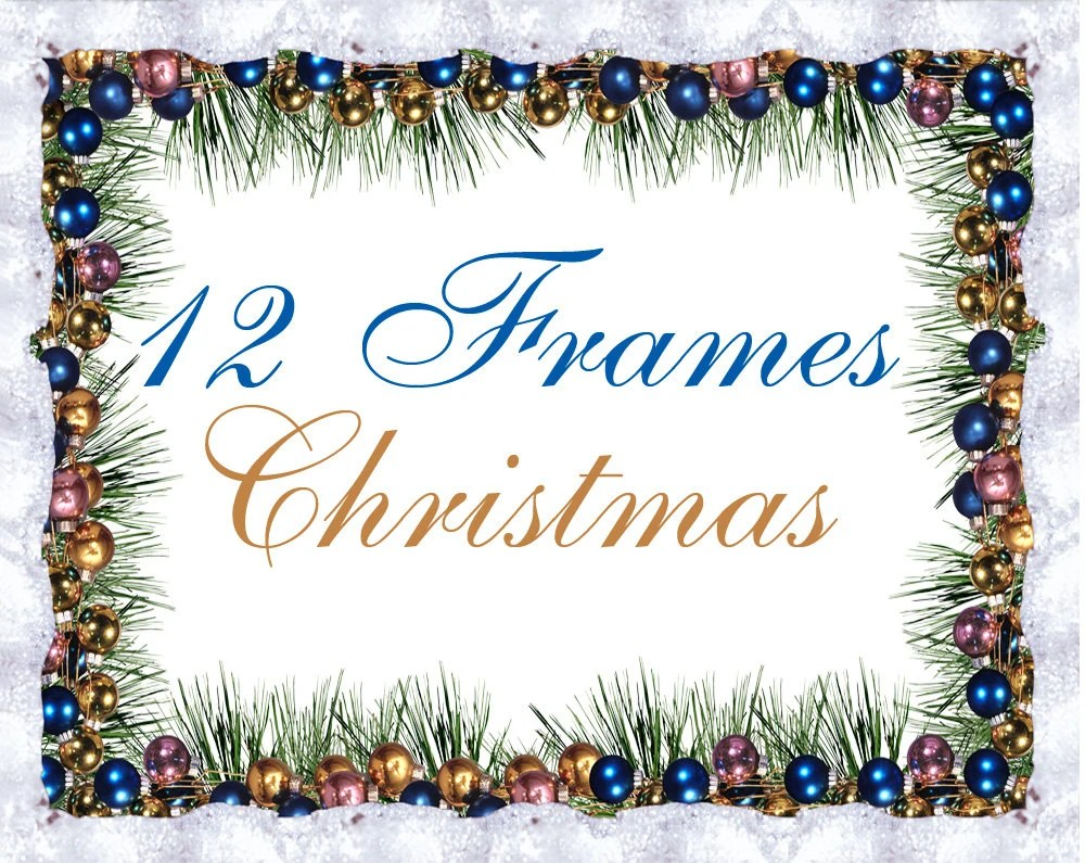 12 Digital Winter and Christmas frames new year clipart Etsy