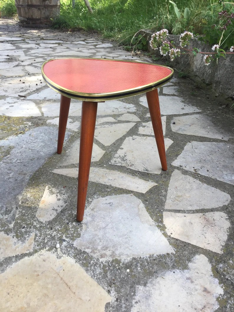 Ikea Nierentisch Vintage Tripod Plant Stand Gdr Coffee End Table From East Germany Mid Century 50s Kidney Table Mini Wood Plant Stand End Table Coffee Table