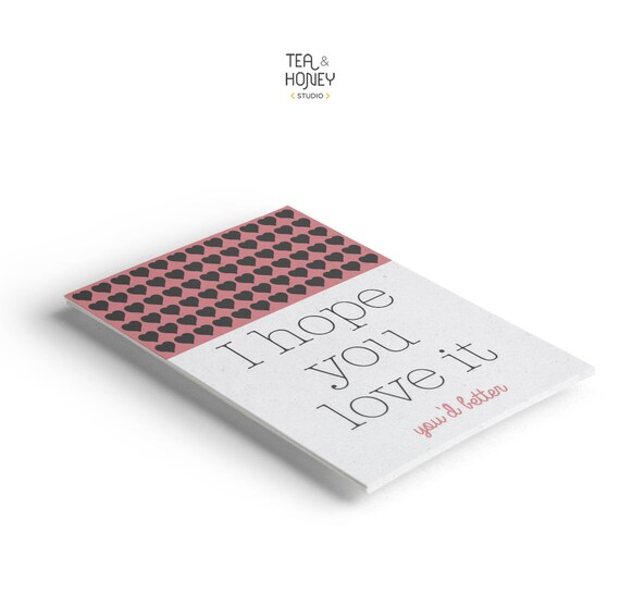 Thank you card Products thank you note Product Tag Template