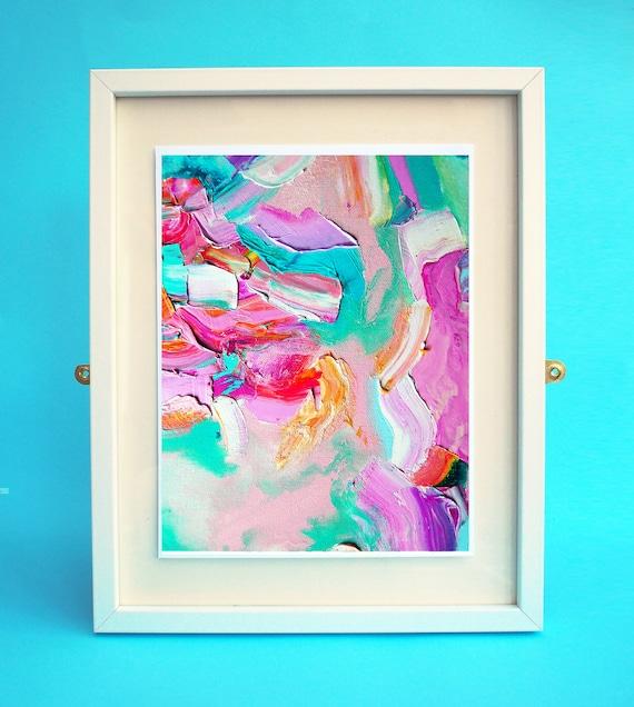 Art print abstract art eye chart abstract painting wall Etsy