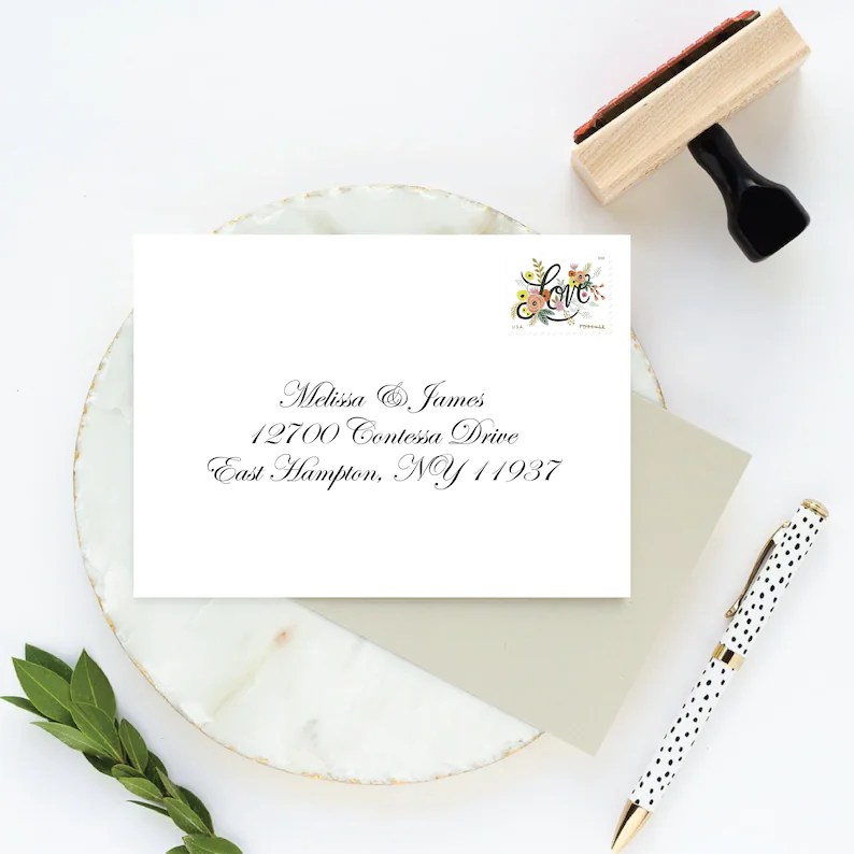 RSVP Address Stamp for Wedding Invitation Response Cards Etsy