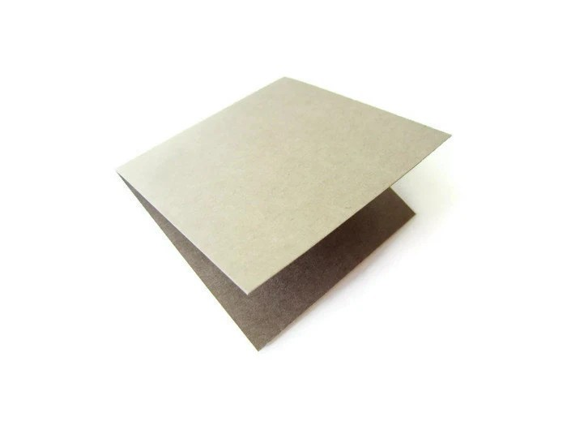 2x2 3x3 4x4 5x5 Inch Square Fold Cards/ Kraft/ Cream/ White Etsy