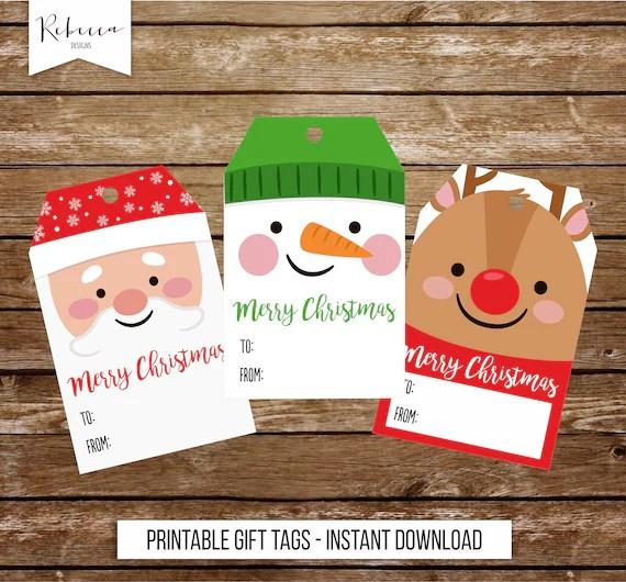 Christmas tags printable Christmas gift tags Christmas favor Etsy