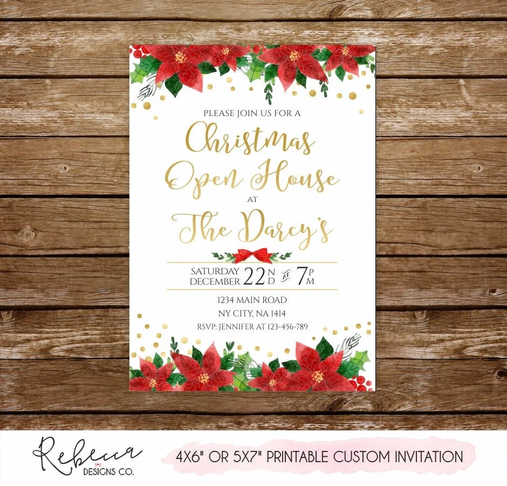 Christmas open house invitation holiday open house invitation