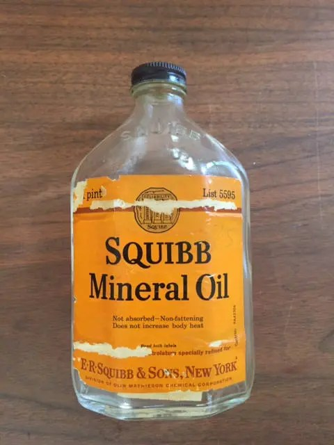 Mineral Oil Squibb Mineral Oil Bottle