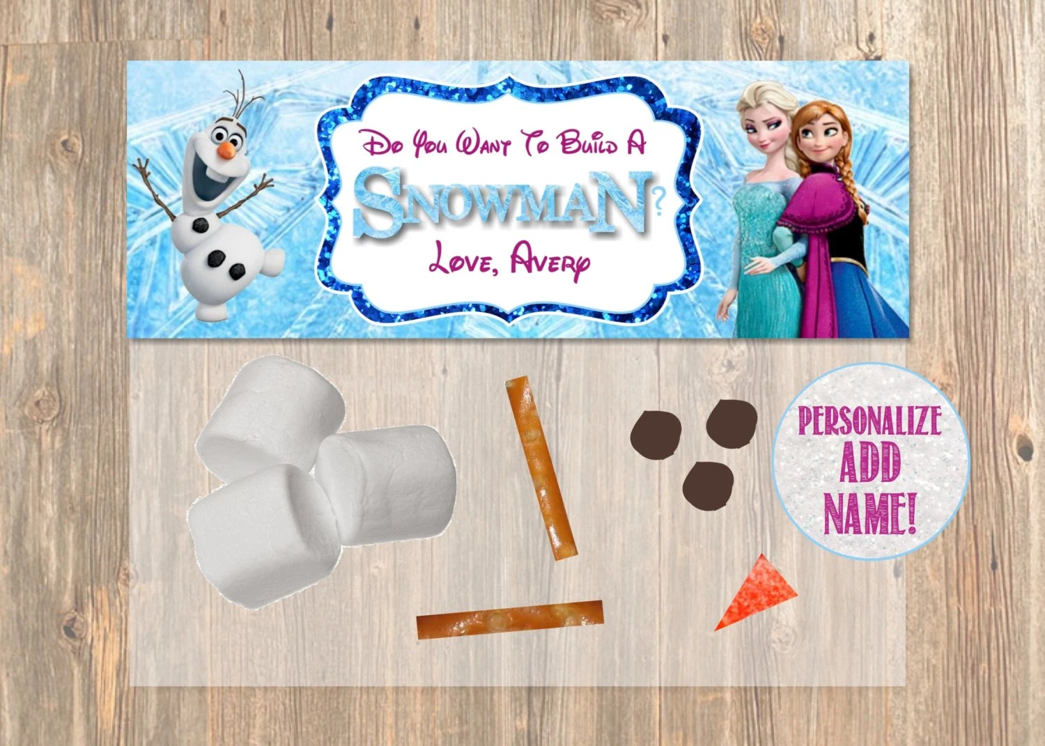 Do You Want To Build a Snowman? Frozen Favor Bag Toppers - Disney