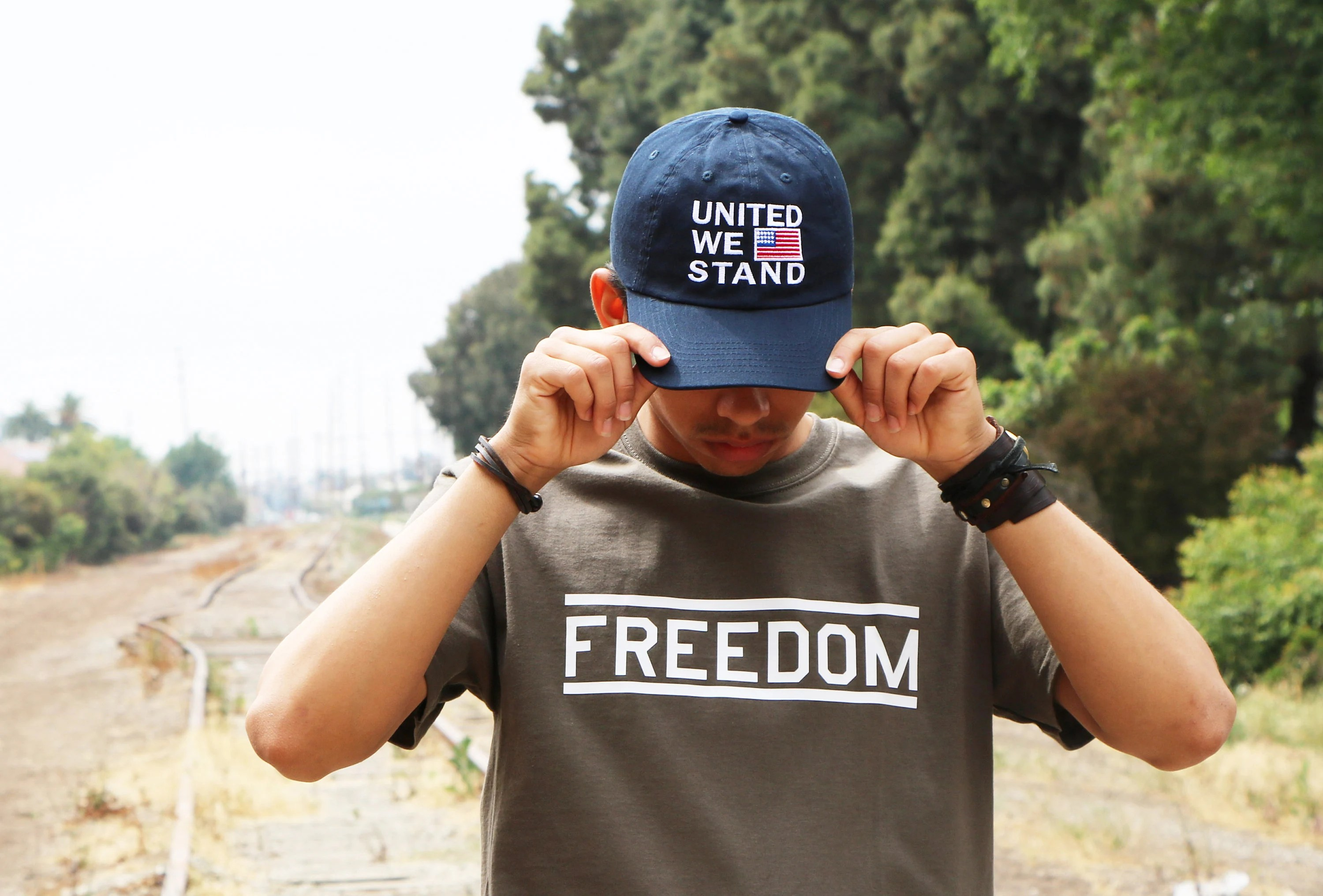 Hat Stand Freedom United We Stand Dad Hat American Flag Hat America Baseball Hat