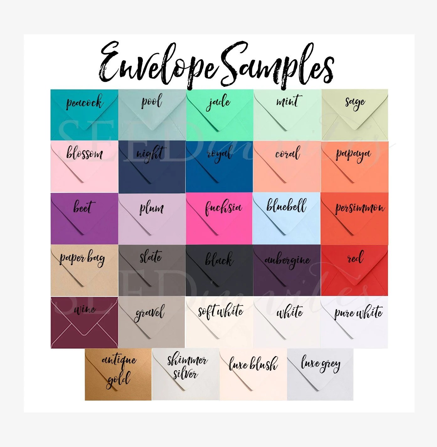 A7 5x7 Envelopes SAMPLE 80 Premium Paper Source Euro Etsy - sample 5x7 envelope template