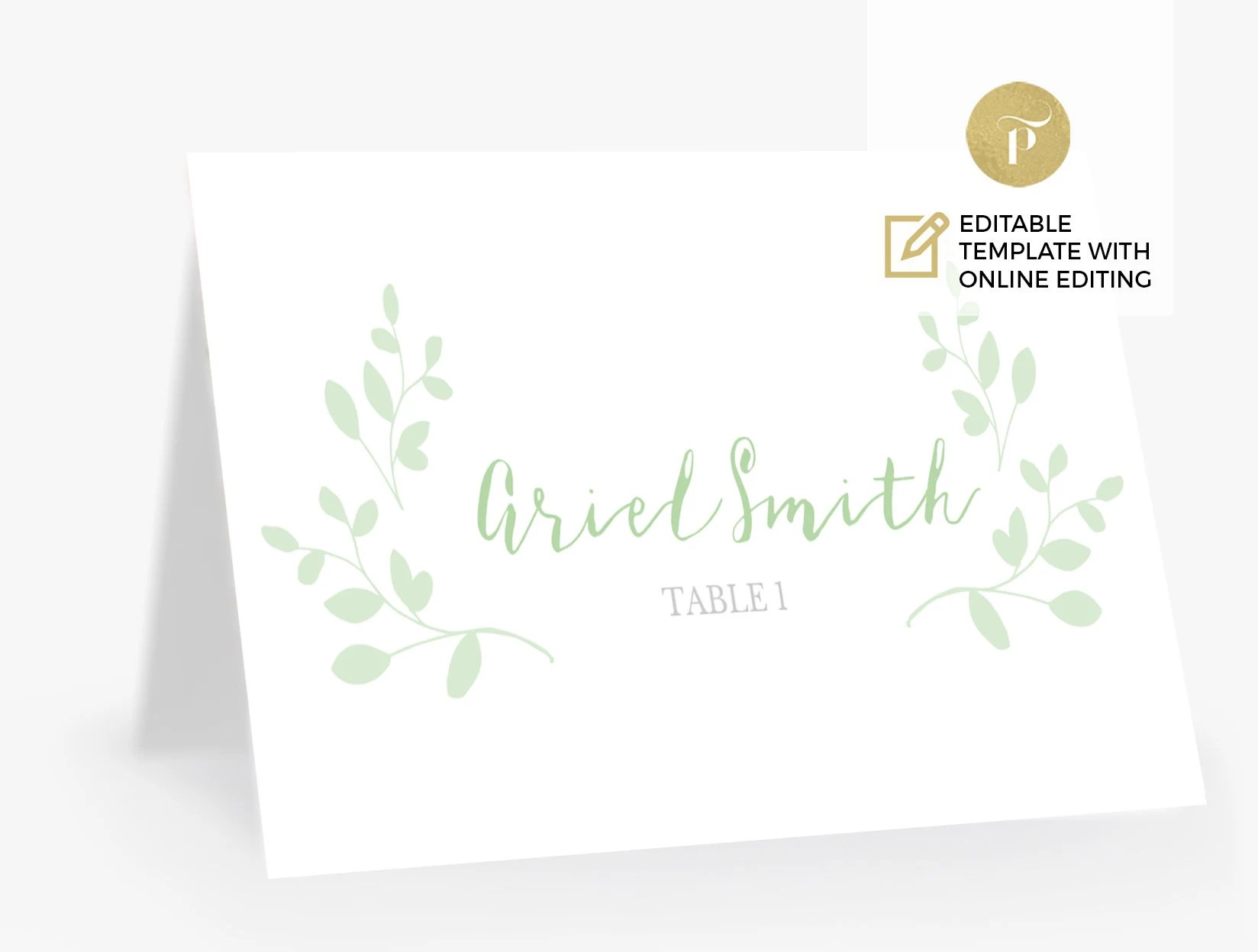 Printable Place Card Template Editable online Escort Tent Etsy