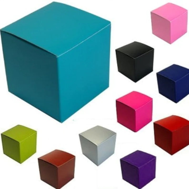 Color Gloss Cupcake Cookie Candy Favor Box 4x4x4 Etsy