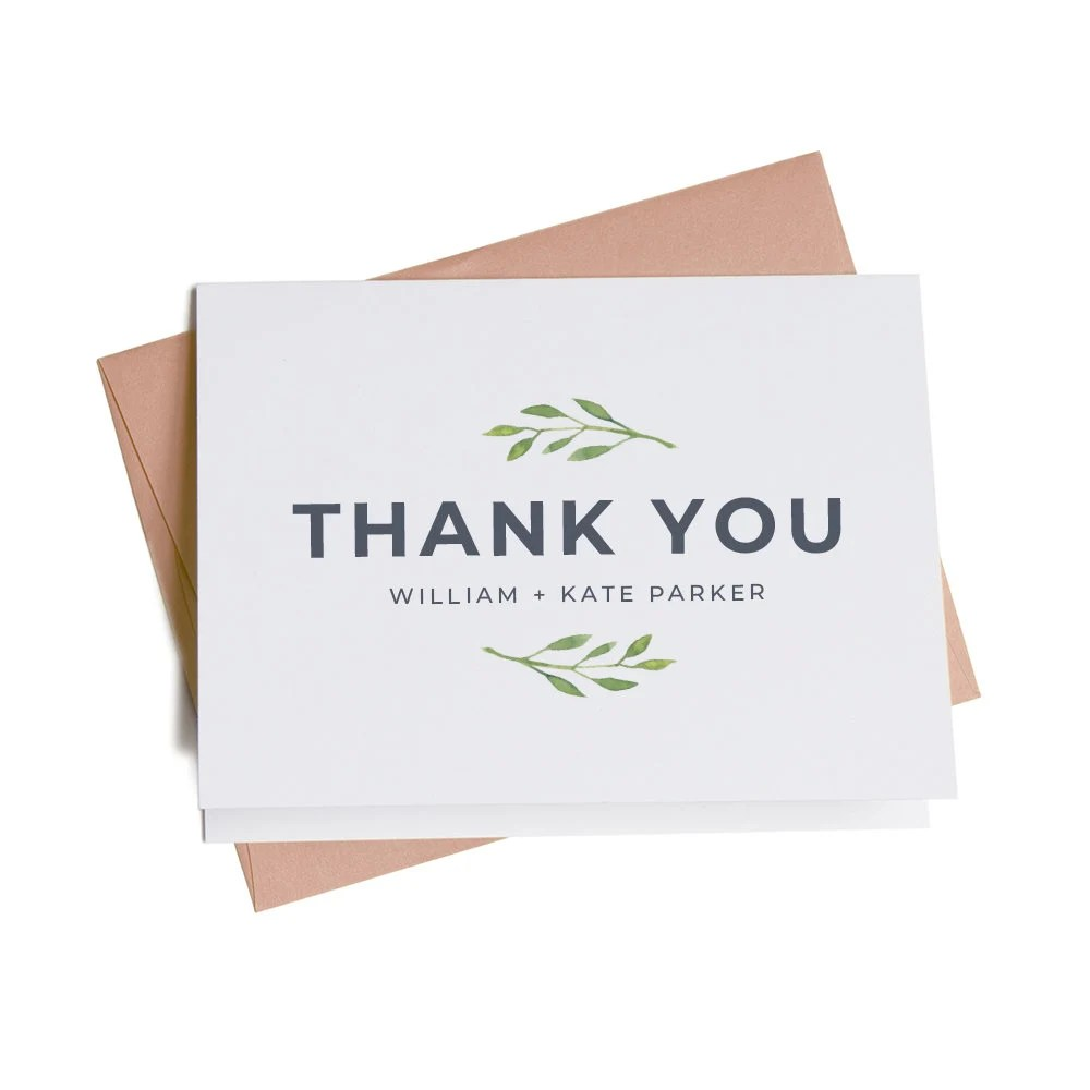 Business Thank You Cards, Personalized Thank You Cards, Thank You