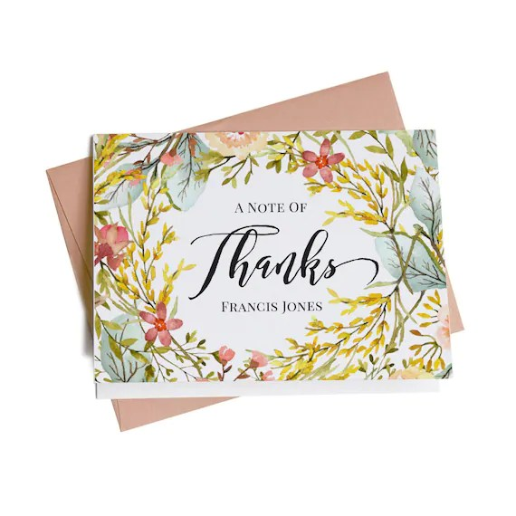 Personalized Thank You Cards Bridal Shower Thank You Cards Etsy