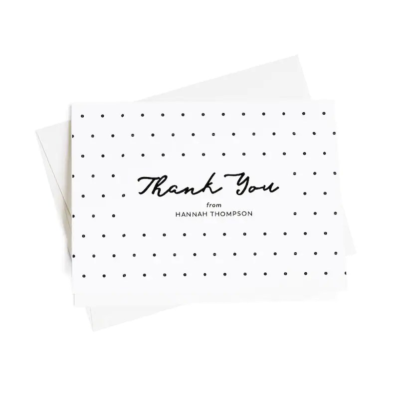 Personalized Thank You Cards Business Thank You Notes Set of Etsy