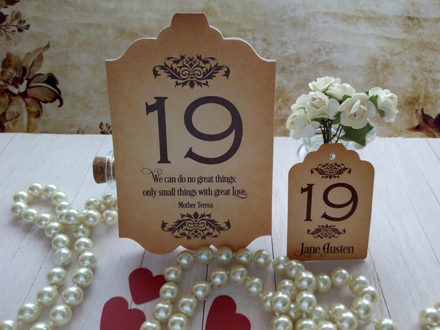 Wedding Table Number Template Table Number Printable