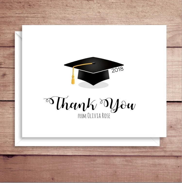 Graduation Note Cards Grad Thank You Cards Graduation Etsy