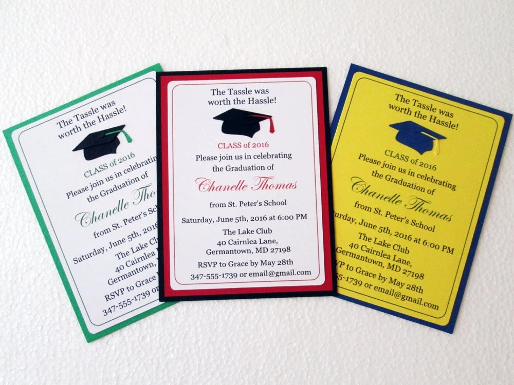 Graduation Invitations, High School Graduation, College Graduation  Invitation, Graduation Invite, Class Of 2019, Graduation Party Invitation
