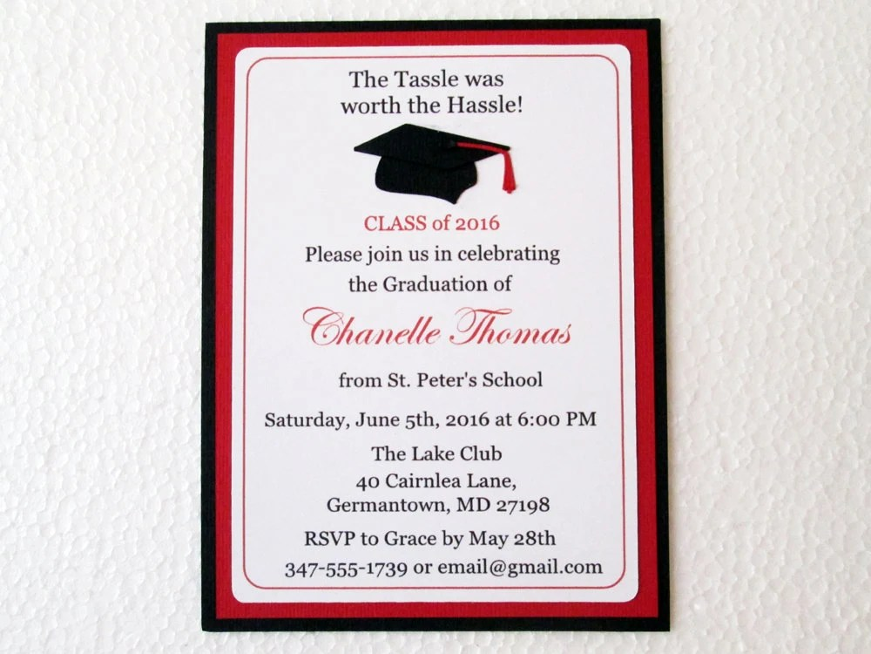 Graduation Invitations High School Graduation College Etsy