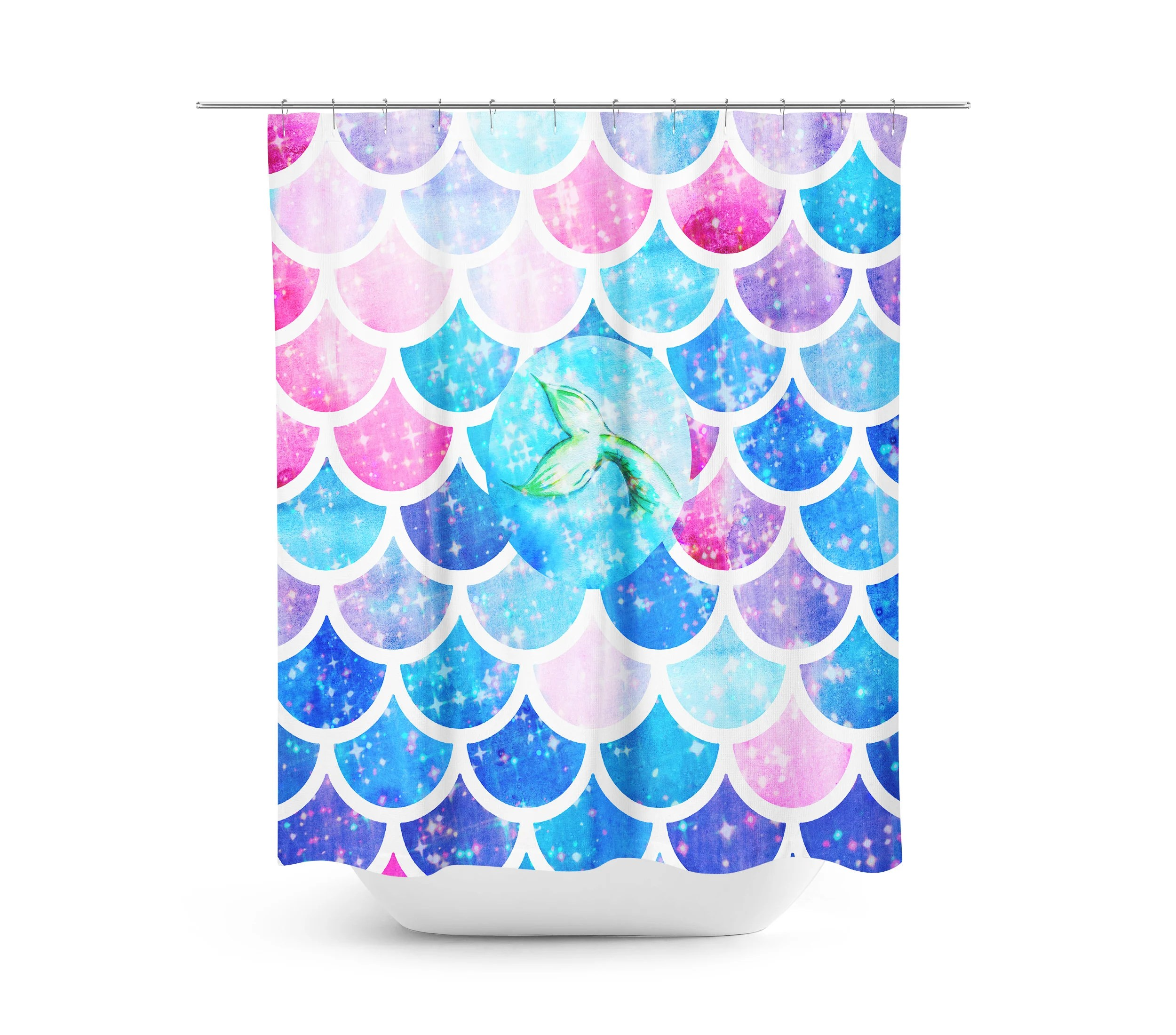Mermaid Scale Shower Curtain Mystical Mermaid Scales Shower Curtain Optional Bath Bath Towels