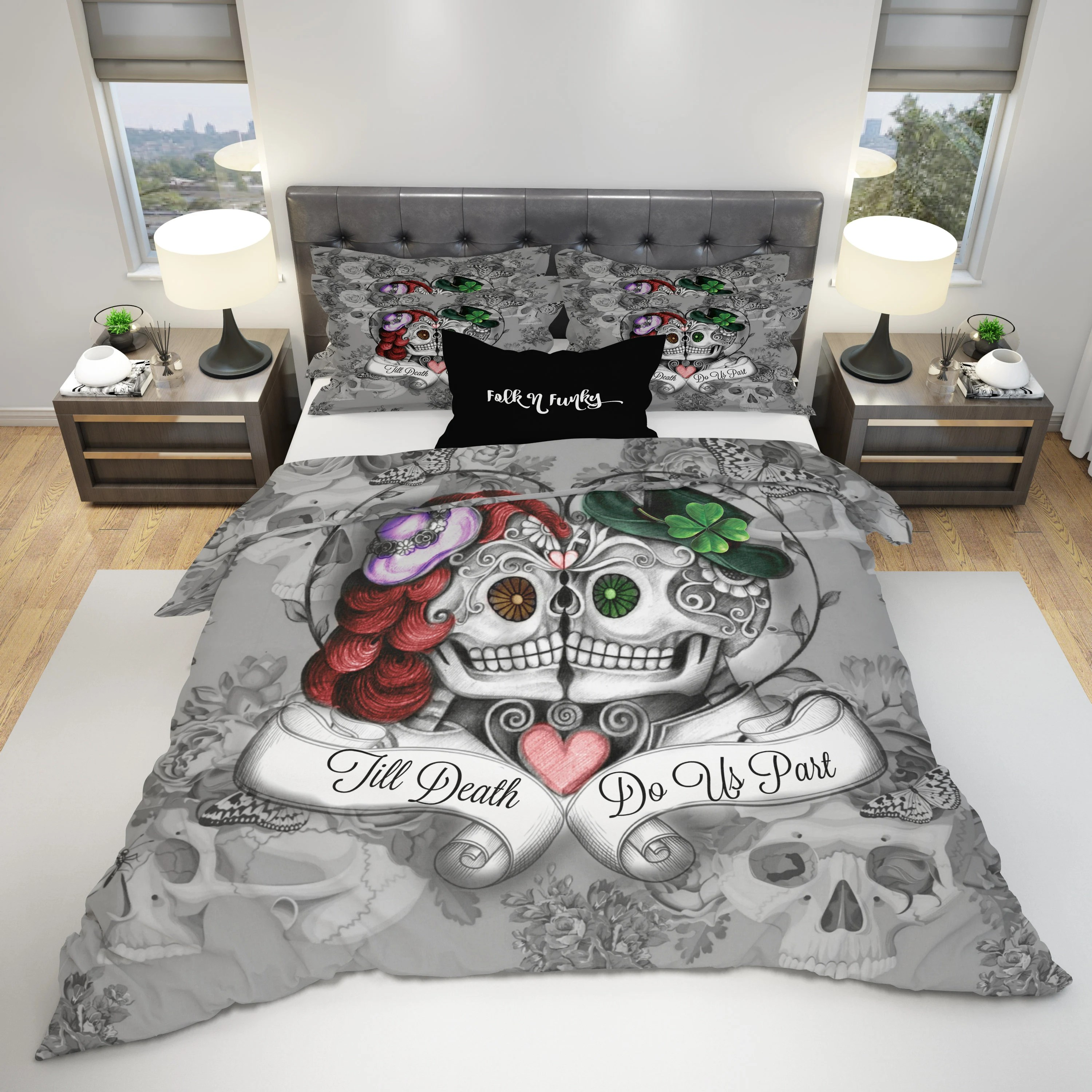 Duvet And Comforter Sets Bedding Sugar Skull Comforter Set Or Duvet Cover