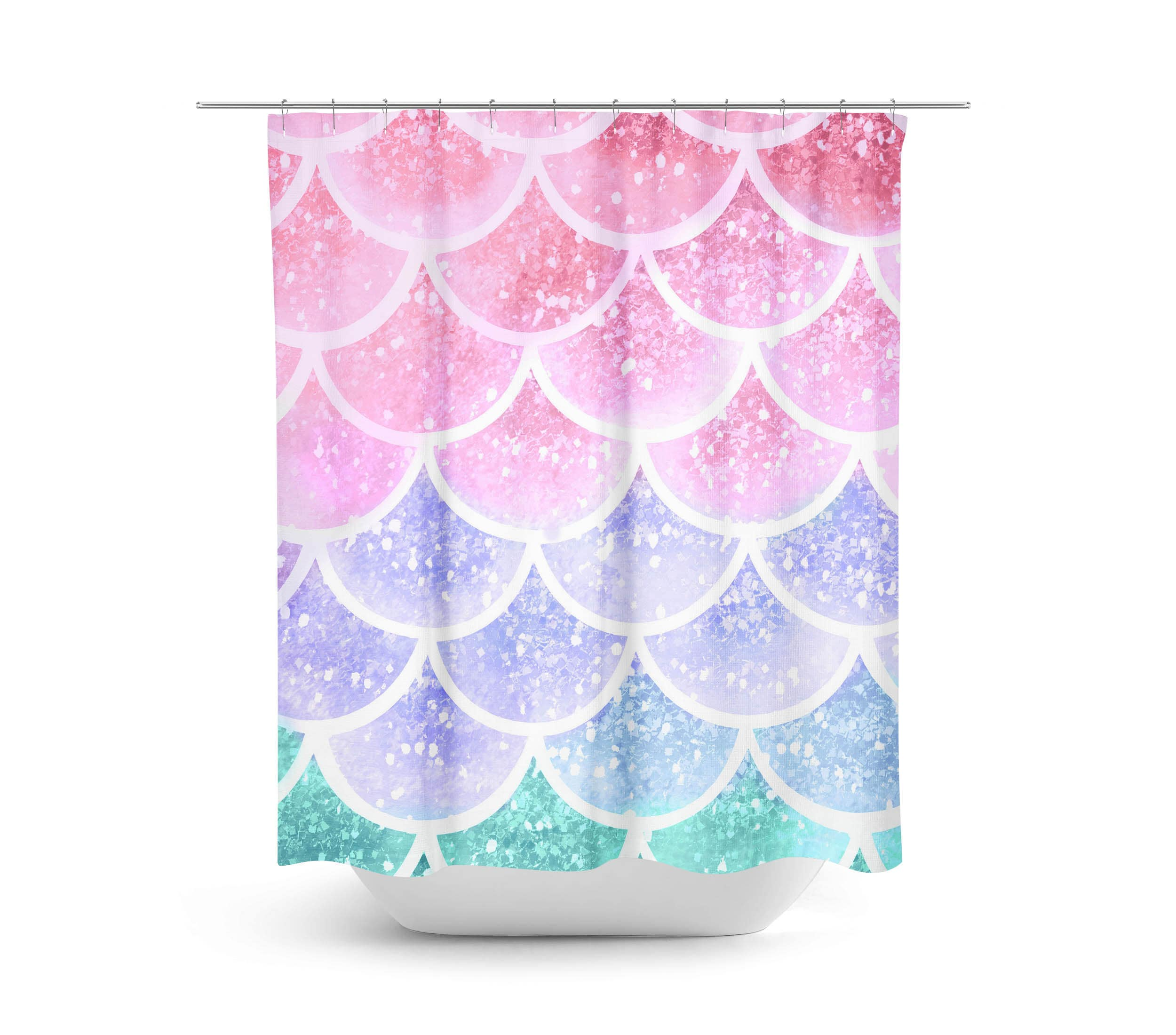 Mermaid Scale Shower Curtain Pastel Mermaid Scales Shower Curtain Bath Towel Bath Mat Window