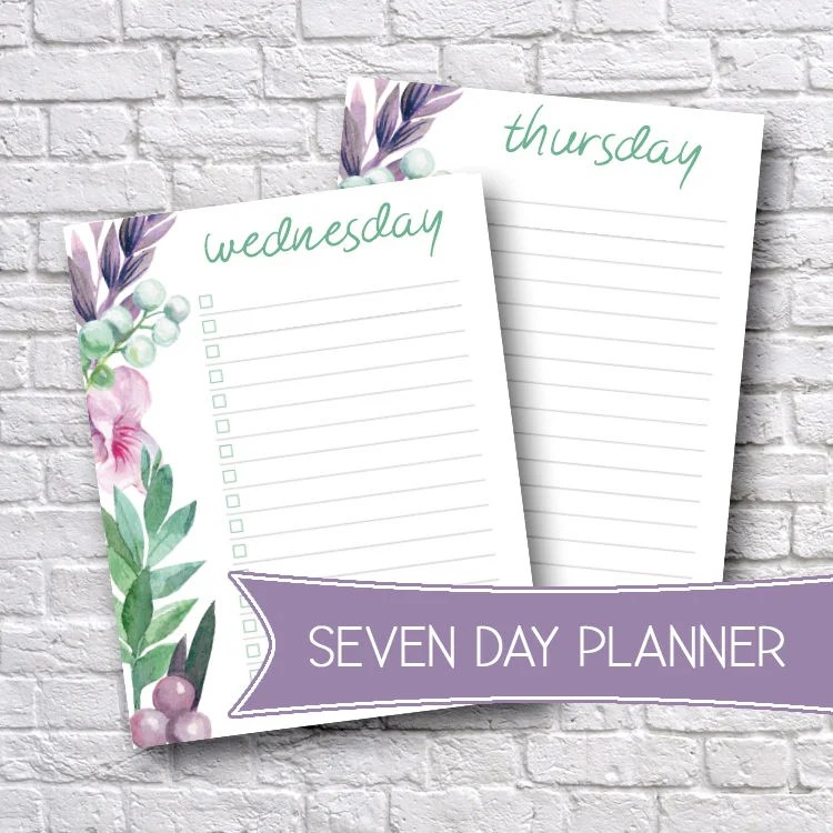 Printable Weekly Planners Weekly Organizer To-Do List Etsy