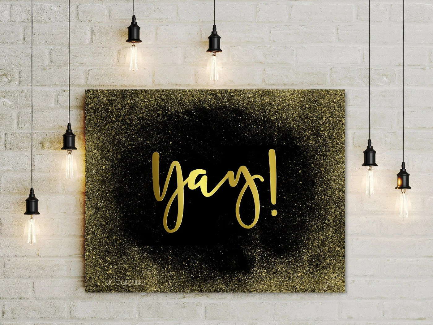 Yay Printable Party decorations Congratulations sign gold Etsy