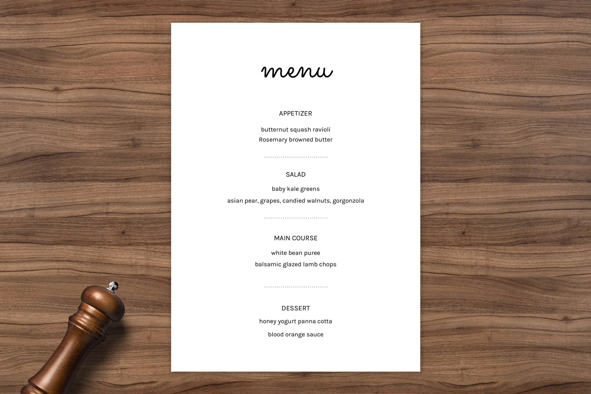 Banquet Menu Menu template wedding menu catering menu Etsy