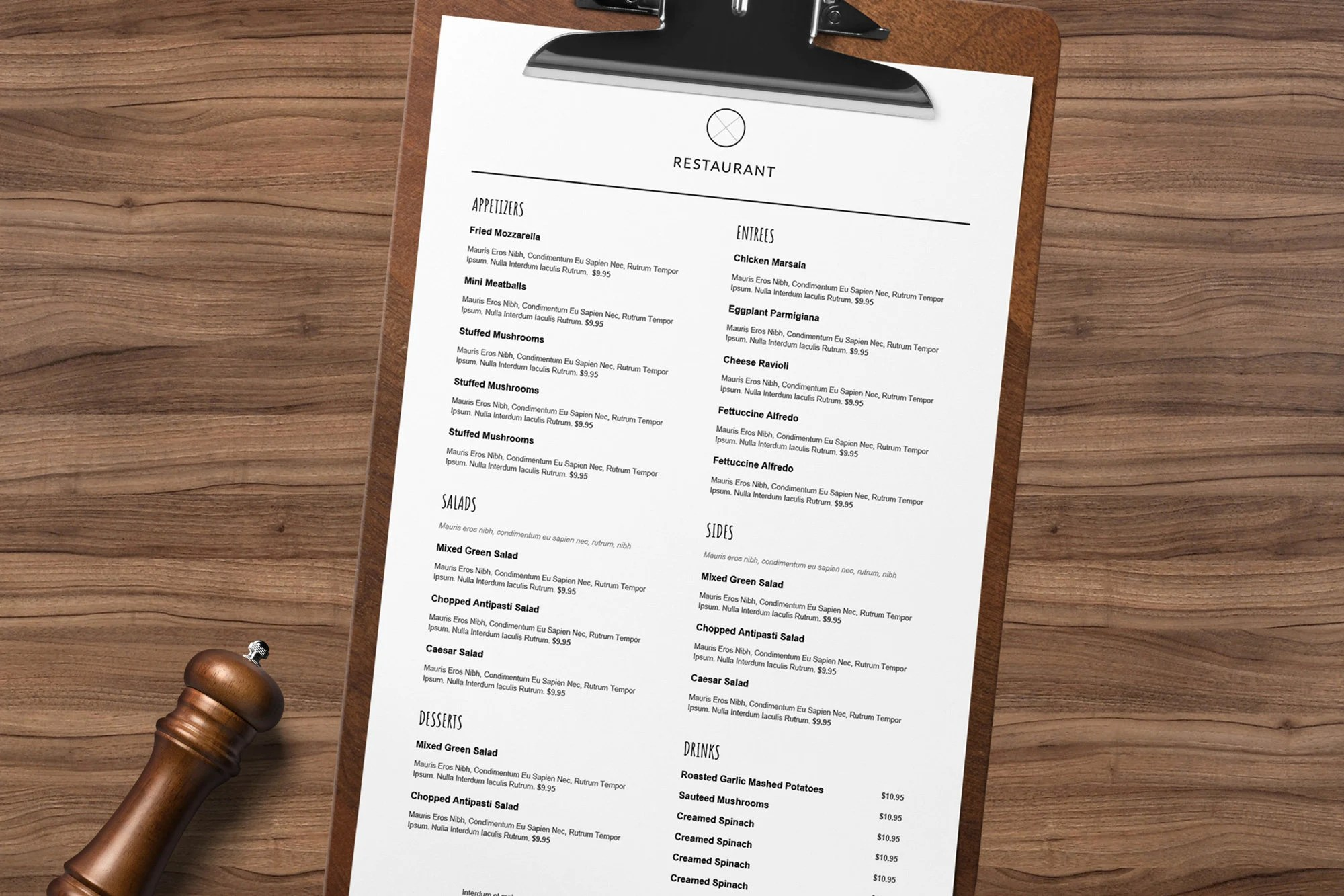 Menu Restaurant Restaurant Menu Restaurant Menu Template Etsy
