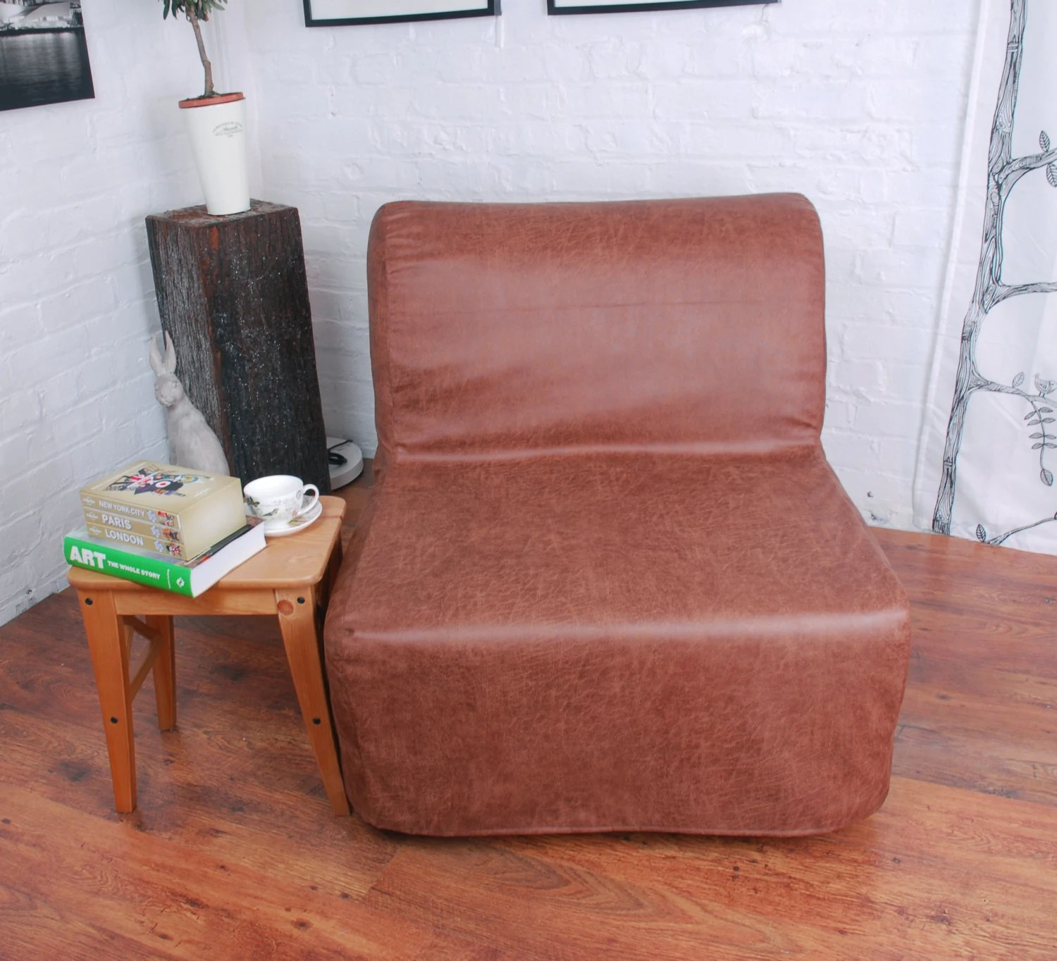 Ikea Solsta Bettsofa Deutschland Ikea Lycksele Chair Or Double Sofa Bed Cover In Distressed Vintage Look Leather Look Fabric