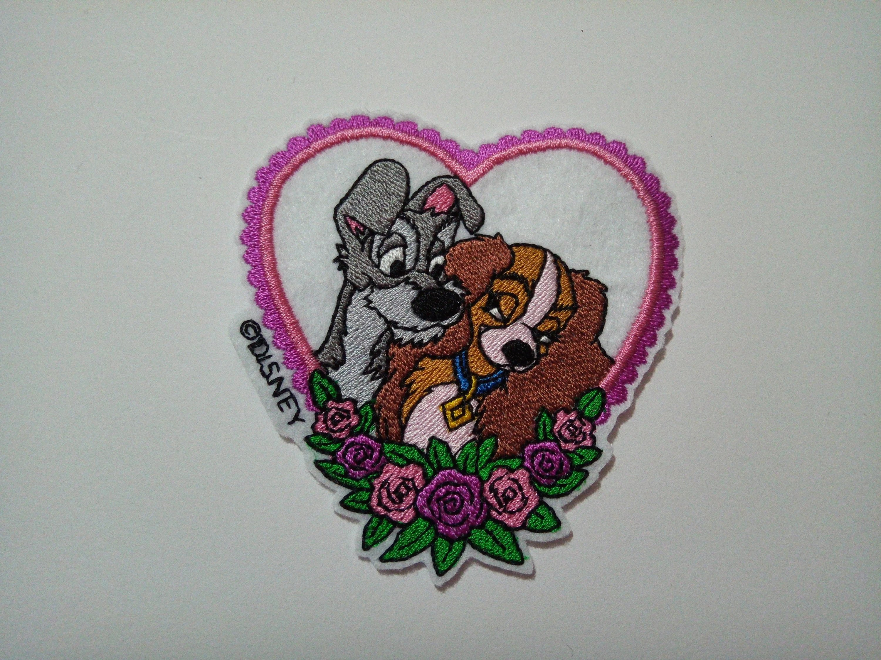 9 To Cm 9 Cm X 9 Cm 3 54 Lady And Tramp Iron On Or Sew On Patch Disney Patch Disney Iron On Patch Lady And The Tramp Patchdog Patch
