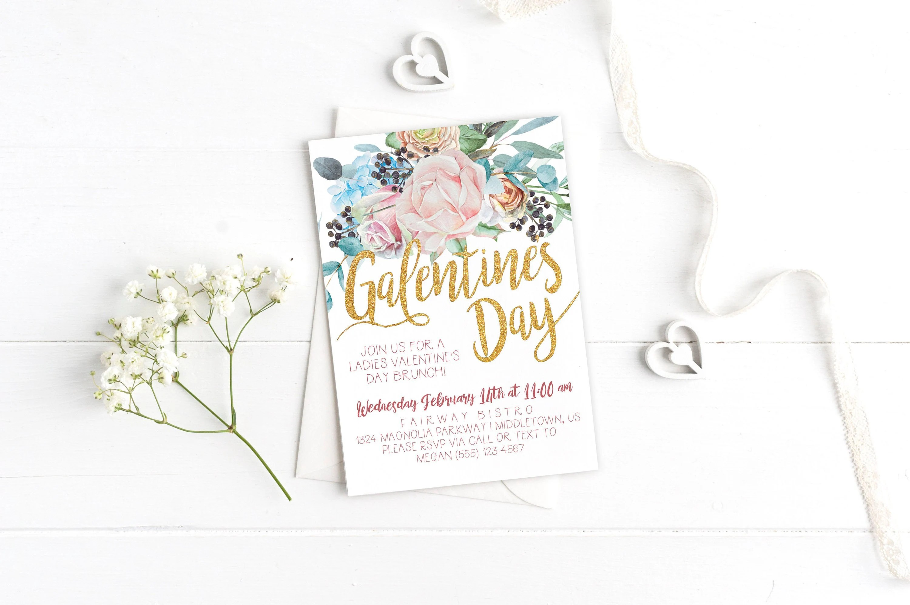 Printable Galentine\u0027s Day Invitation Instant Download Etsy