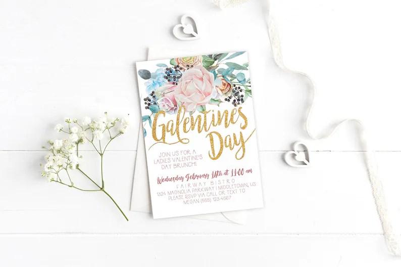 Printable Galentine\u0027s Day Invitation Instant Download Etsy