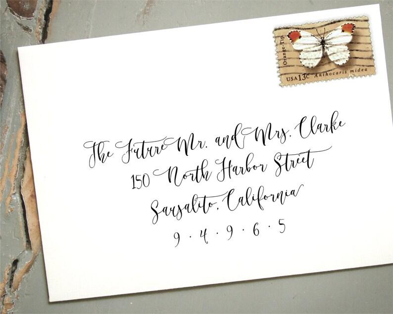 Extra Large Self-Inking Address Stamp Custom Wedding Etsy