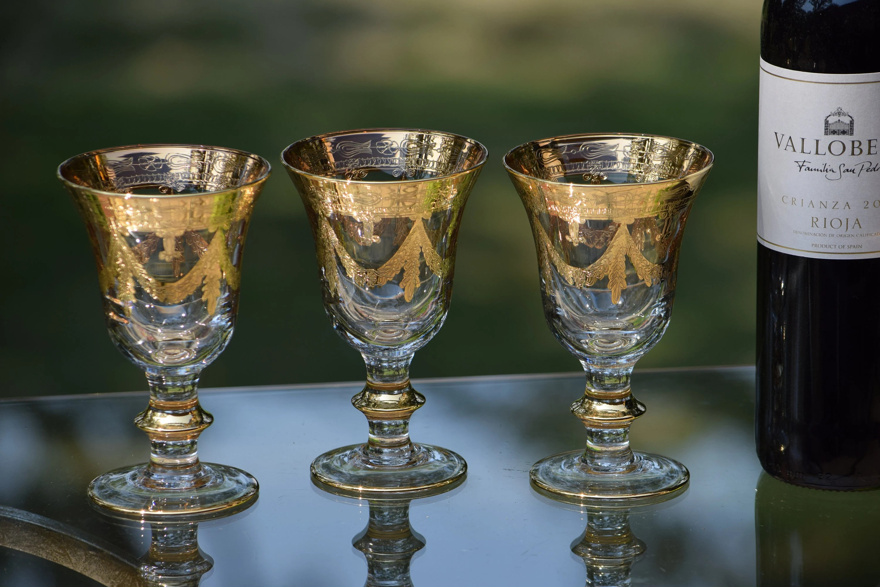 Arte Italica Customer Service Vintage Gold Encrusted Wine Glasses Set Of 4 Arte Italica