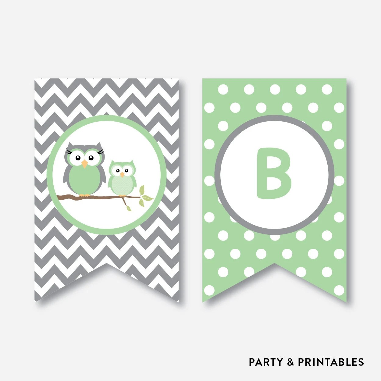 Instant Download, Owl Baby Shower Banner, Baby Sprinkle Banner