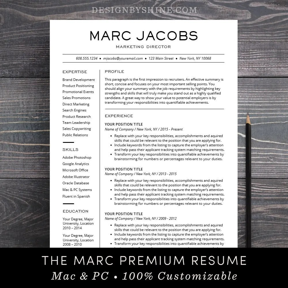 Sasha Chris Badkamer Modern Resume Template Cv Template For Pages Word Professional Design Free Cover Letter Creative Modern Teacher The Marc