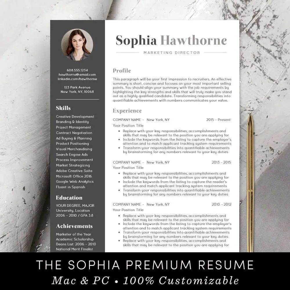 template cv pages mac free