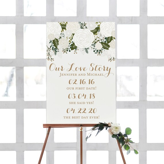 Printable Our Love Story Sign Our Love Story Printable Love Etsy